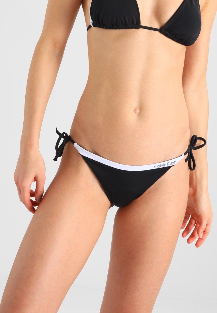 Calvin Klein Swimwear - NOS LOGO STRING SIDE TIE - Bikini bottoms - black