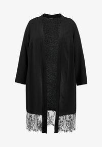 Evans - PEBBLE HEM KIMONO - Summer jacket - black - 4