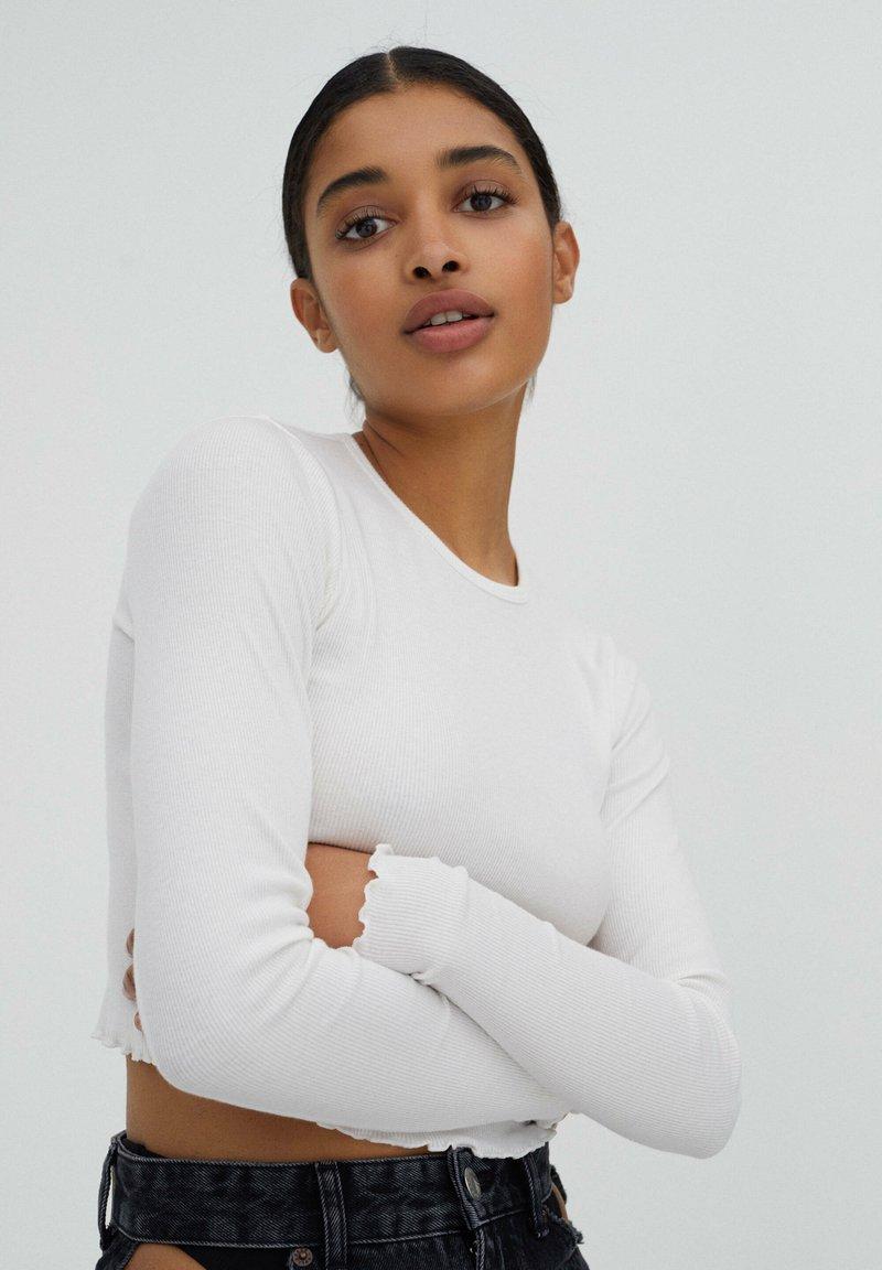 PULL&BEAR - 2 PACK - Long sleeved top - black