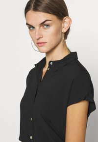 ONLY - ONLMIMI CAPSLEEVE - Button-down blouse - black - 4