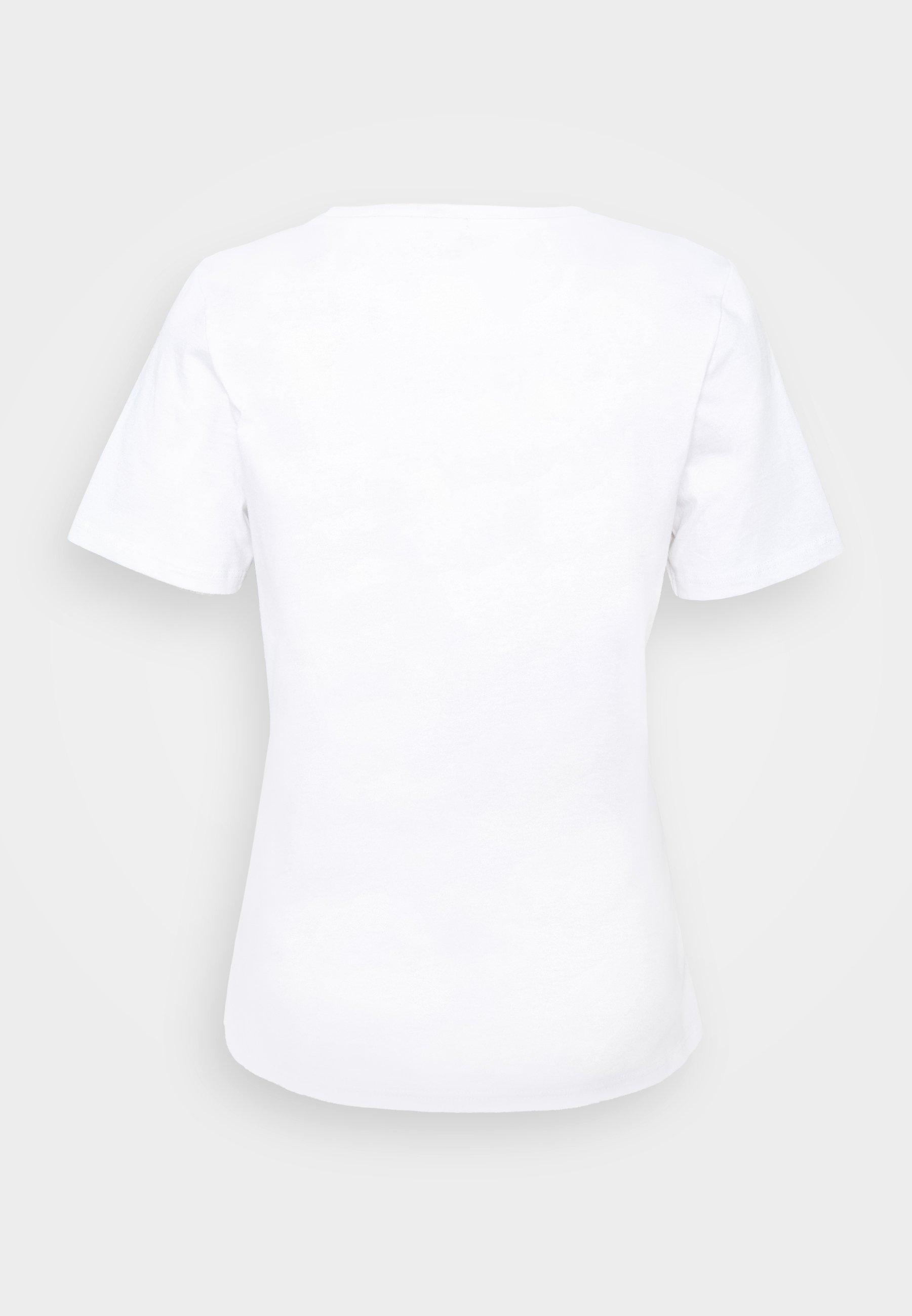 River Island T-shirts Med Print - White/hvit