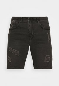 STRAIGHT - Denim shorts - raven black