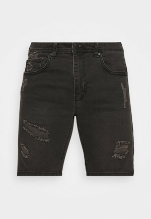 STRAIGHT - Jeansshorts - raven black