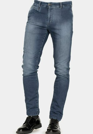 EXTRA COMFORT - Jeans slim fit - lavaggio blu medio stone wash