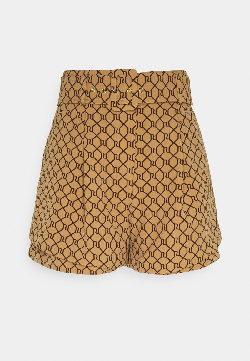 River Island - STRUCTURED - Shorts - brown