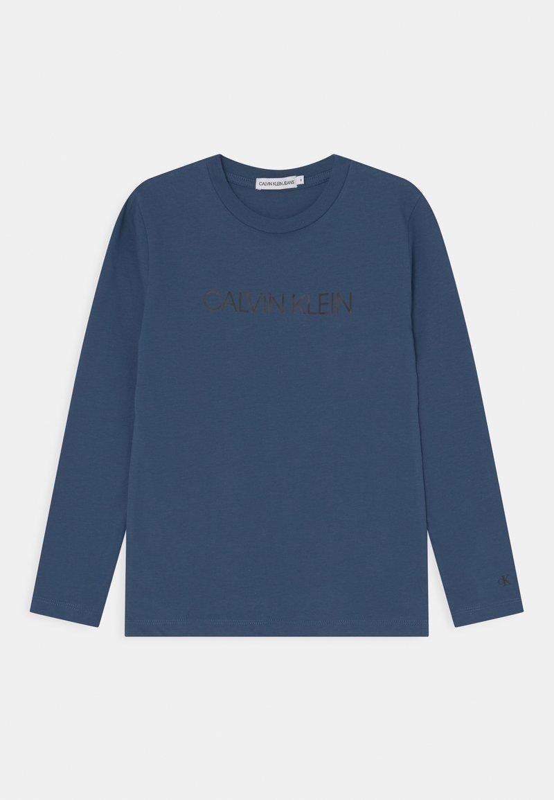 Calvin Klein Jeans - INSTITUTIONAL UNISEX - Pitkähihainen paita - ensign blue