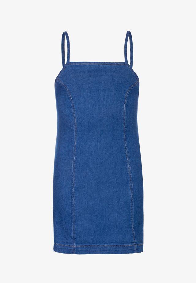 PRINCESS SEAM DRESS - Denimové šaty - mid blue