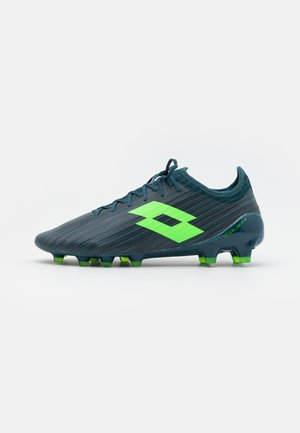 SOLISTA 200 III FG - Moulded stud football boots - atlantic deep/spring green/hydro green