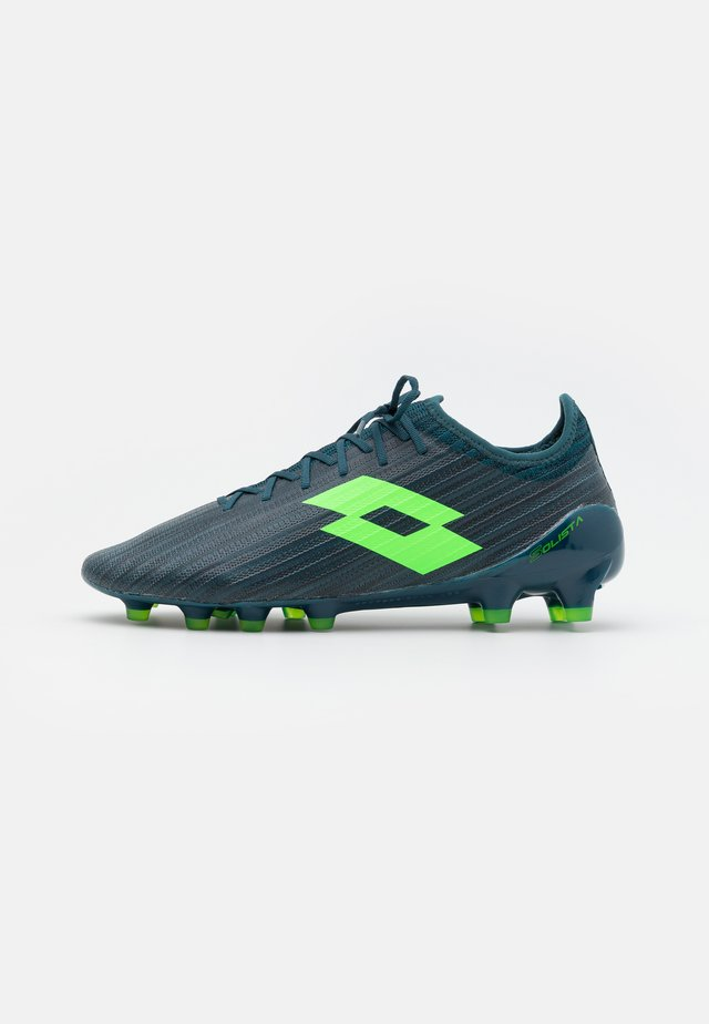 SOLISTA 200 III FG - Moulded stud football boots - atlantic deep/spring green/hydro green