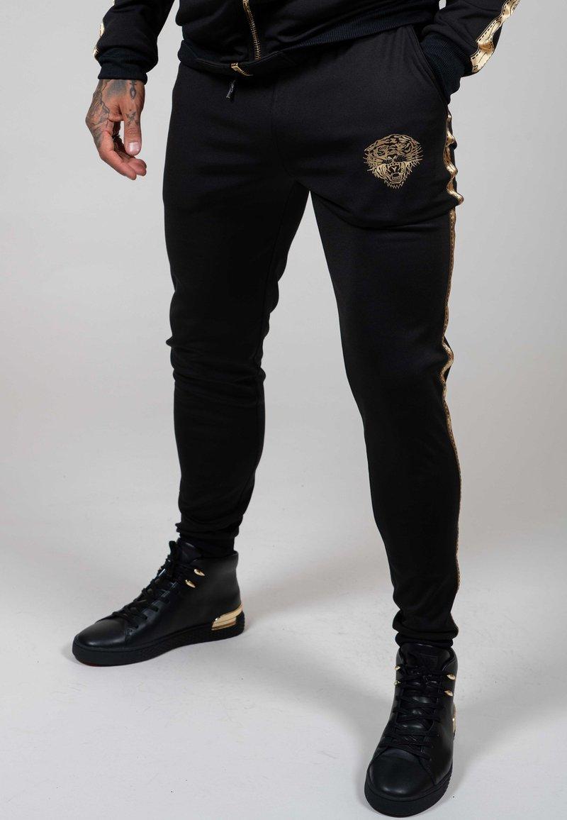 Ed Hardy - LOVE ED TRACK PANT - Tracksuit bottoms - black
