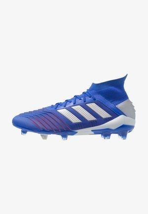 PREDATOR 19.1 FG - Moulded stud football boots - bold blue/silver metallic/fotball blue