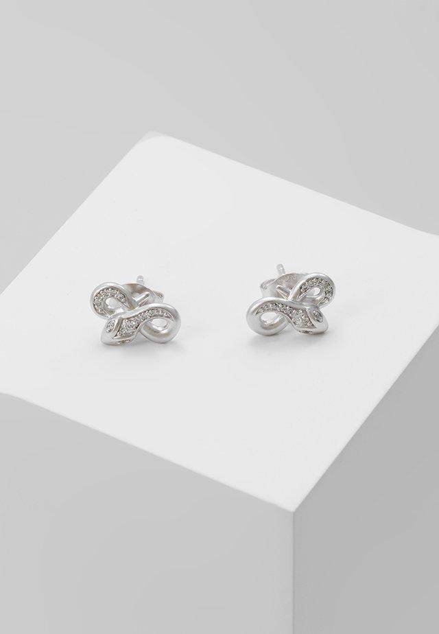 BOA TWISTED EARSTUDS - Earrings - silver-coloured