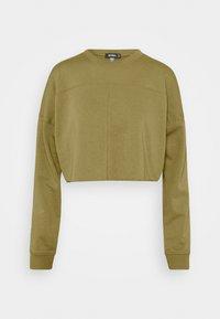 Missguided - CROPPED RAW HEM SLIM JOGGER - Sweatshirt - khaki - 1