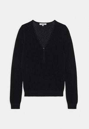 V-NECK - Sweter - noir