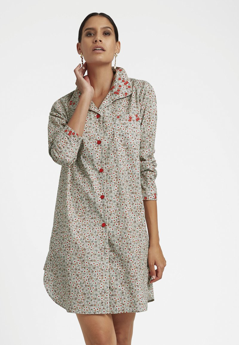 MADELEINE - Pyjama top - taupe/multicolor