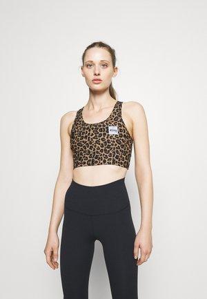 RIDER SPORTS BRA - Light support sports bra - brown