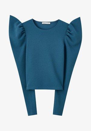 BASIC-SHIRT MIT VOLANT 05234386 - Bluse - blue