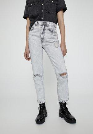Slim fit jeans - mottled light grey