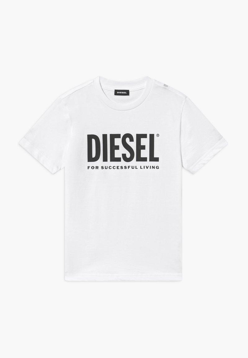 Diesel - LOGO MAGLIETTA UNISEX - Print T-shirt - bianco