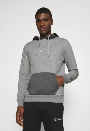 CONTRAST HOOD WITH TAPING - Kapuzenpullover - grey