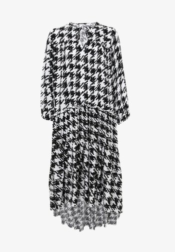 Anina - Robe longue - weiß, schwarz