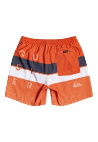 Quiksilver - WORD BLOCK VOLLEY YOUTH - Swimming shorts - pureed pumpkin - 1