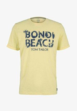 Print T-shirt - pale straw yellow