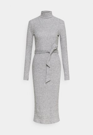 BRUSHED BODYCON TIE WAIST - Etuikjole - grey