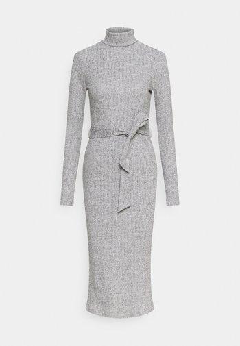BRUSHED BODYCON TIE WAIST - Shift dress - grey