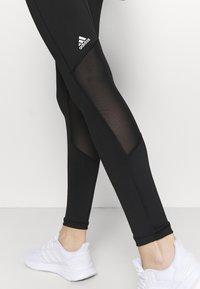 adidas Performance - ADILIFE - Leggings - black/black/white - 3