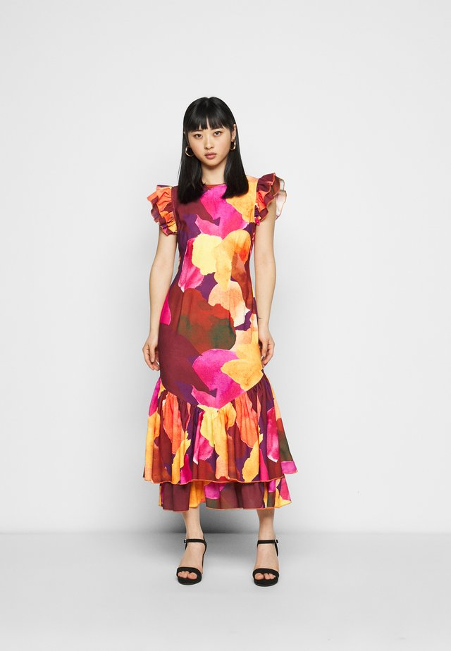 SUNSET ARTIST PRINT DRESS - Vapaa-ajan mekko - multi