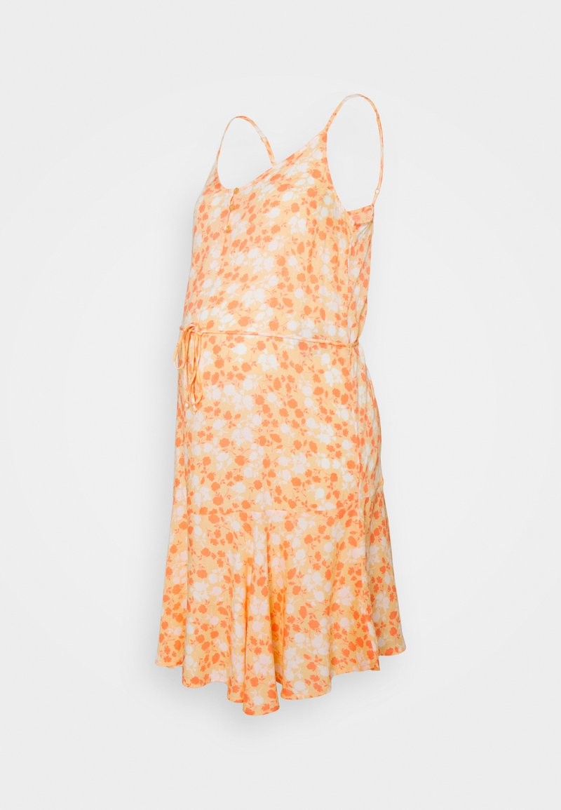 Pieces Maternity - PCMNYA SLIP BUTTON DRESS - Vestido informal - apricot cream