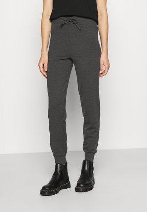 ONLCOZY SLIM PANTS - Träningsbyxor - dark grey melange