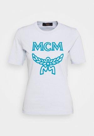 CLASSIC CREW - Print T-shirt - light blue