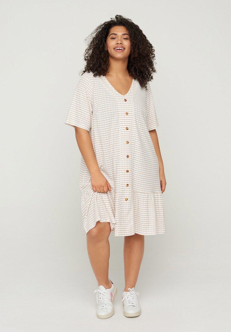 Zizzi - Shirt dress - white