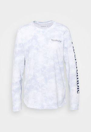 LONG SLEEVE PRINT LOGO TEE - Long sleeved top - blue wash