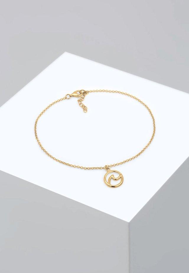 FUSSSCHMUCK WELLE STRAND MARITIM  - Armband - gold-coloured