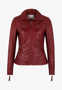 7eleven - Leather jacket - blood red - 3