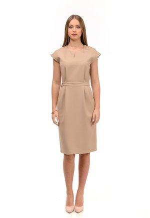 VALENCIA - Shift dress - brown