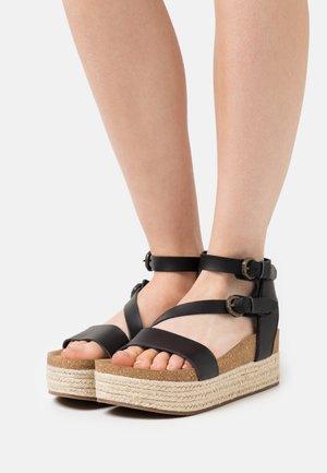 VEGAN TANNA - Platform sandals - black