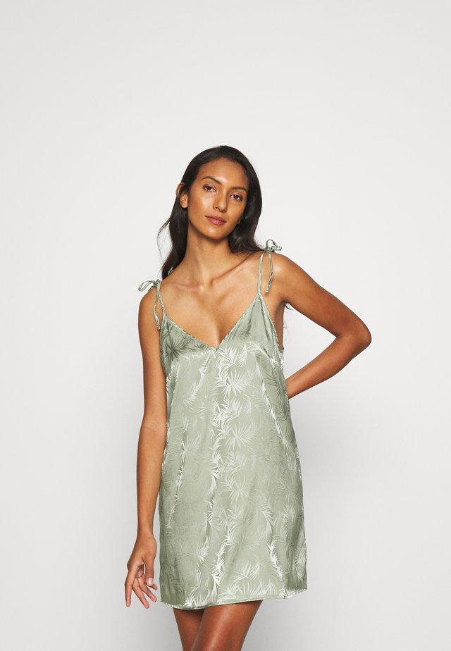 LEAF TIE SHOULDER NIGHTDRESS - Koszula nocna - light green