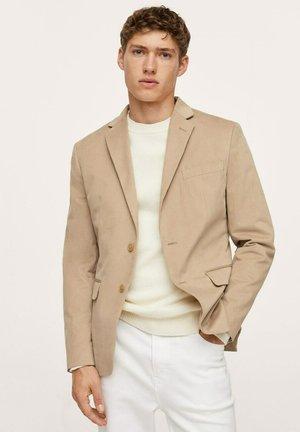 SLIM FIT TEXTURE - Blazer jacket - beige