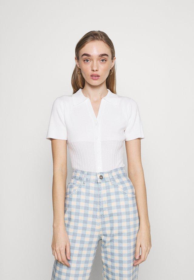 SAUNDERS BODYSUIT - T-shirt print - white