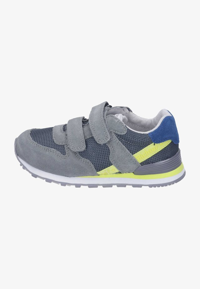 Sneakers laag - stone/blue/neon yellow