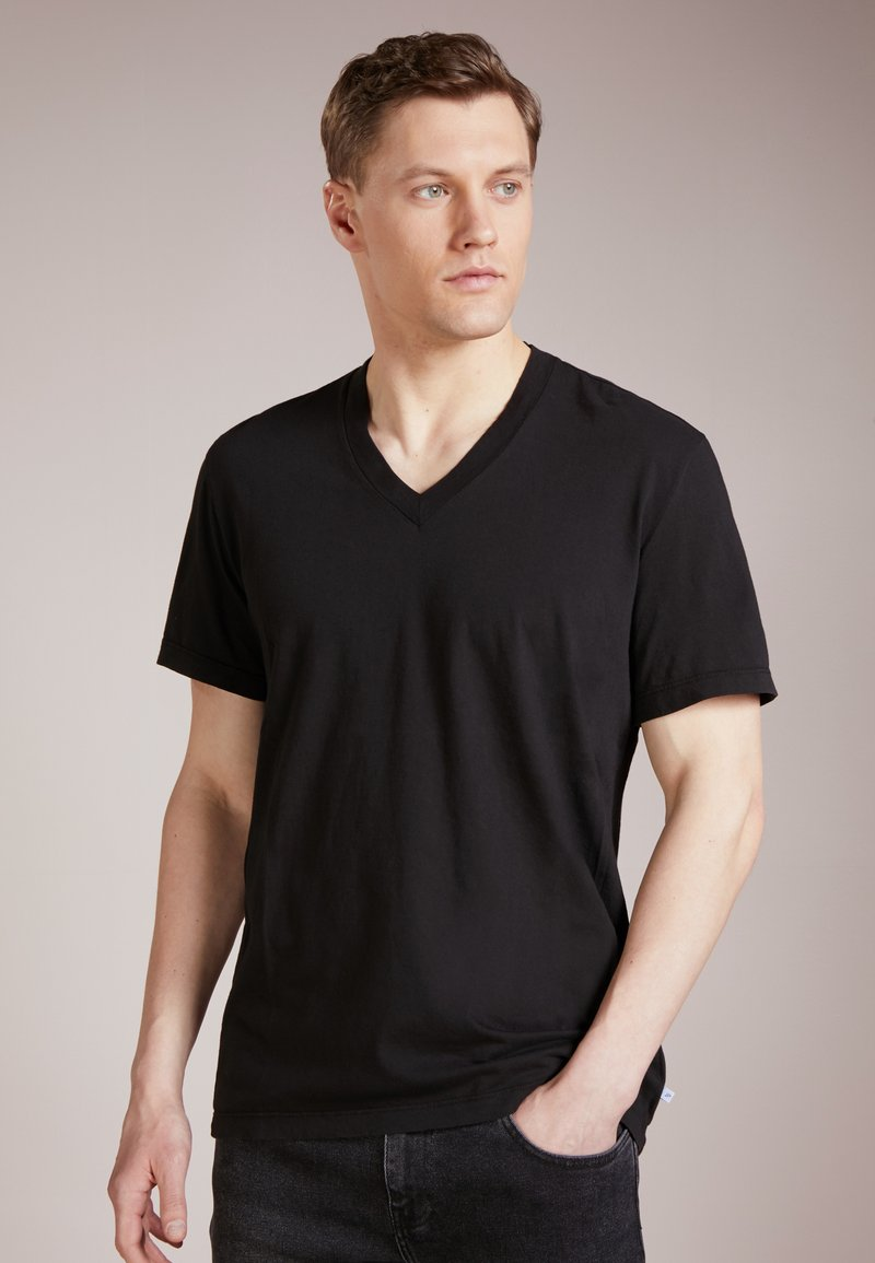 James Perse - V-NECK TEE - T-shirt basic - black