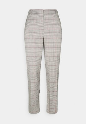 CHECK ANKLE GRAZER - Trousers - grey