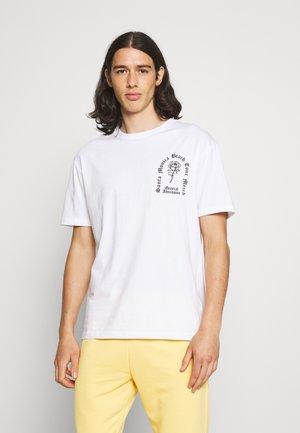 ROSE TEE - Printtipaita - white