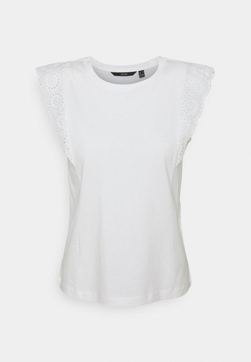 Vero Moda Petite - VMHOLLYN  PETITE - Print T-shirt - snow white