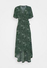 Missguided Tall - HIGH LOW WRAP MIDI DRESS POLKA DOT - Maxi dress - green - 0