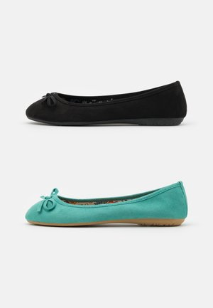 2 PACK - Ballet pumps - mint/black